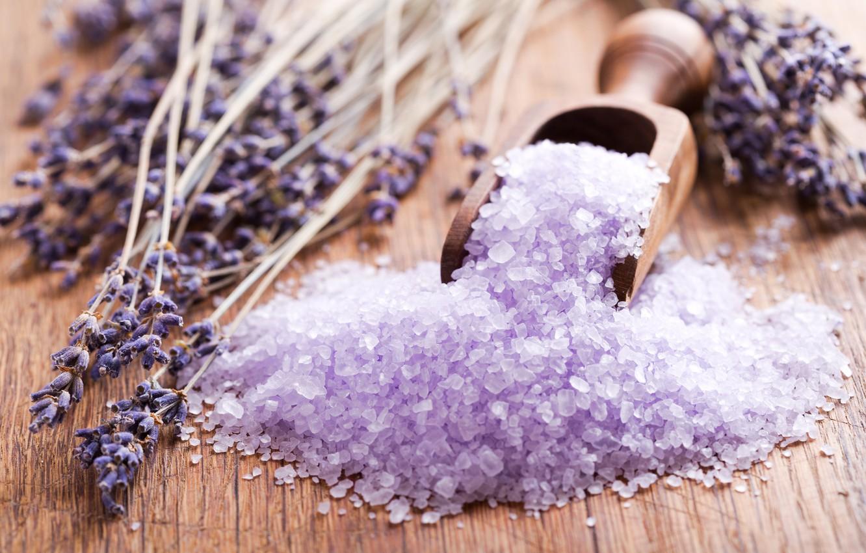 violet bath salt