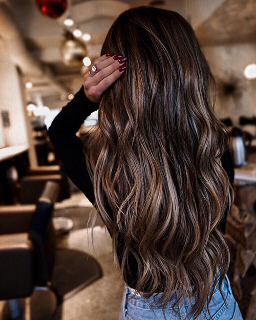 girl with long dyed hair