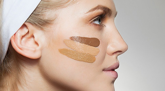 woman with foundation