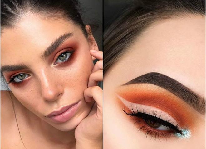orange eyeshadows