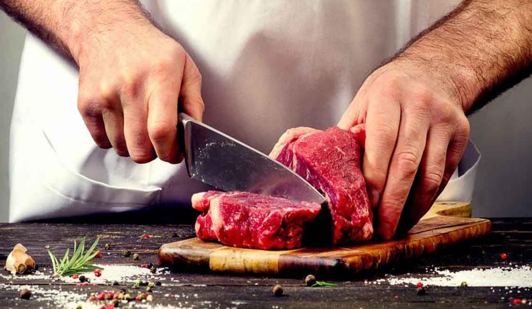 нарезка мяса ножом