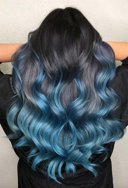 dyed blue hair