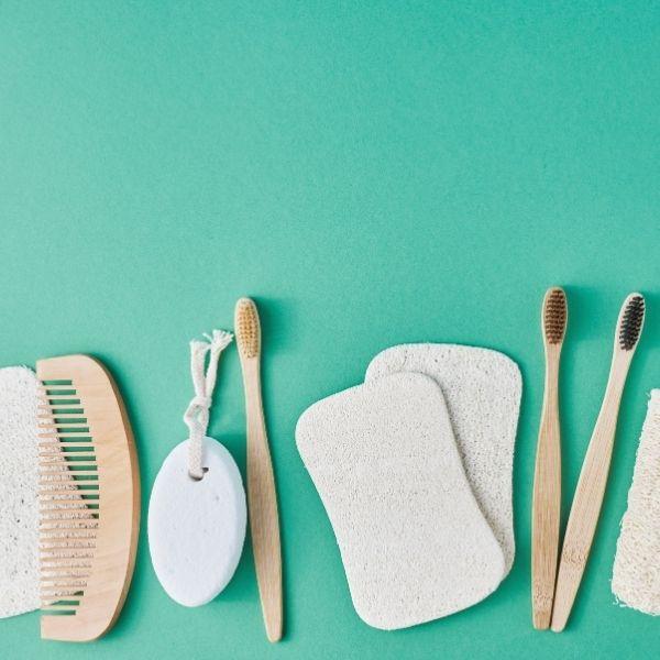 toothbrush and hair bursh
