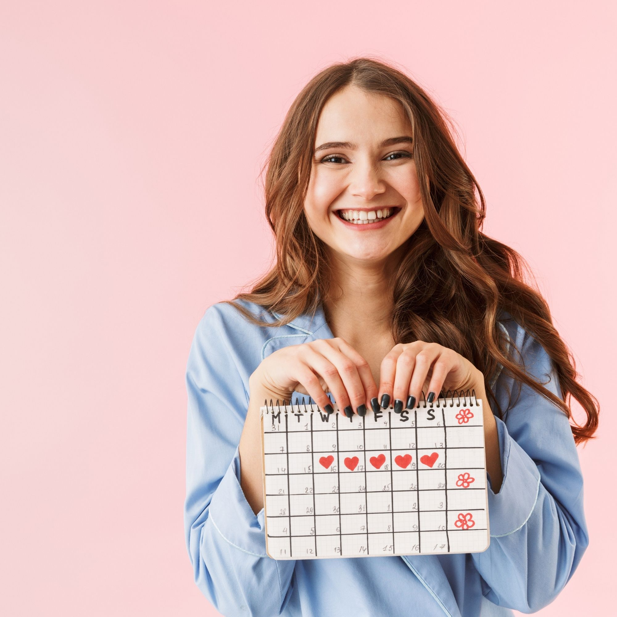 girl with calendar