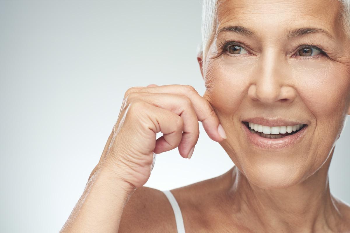 woman with beautiful aging skin