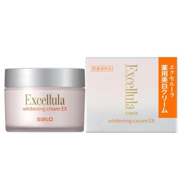 Отбеливающий вечерний крем Sato Excellula Whitening Cream EX