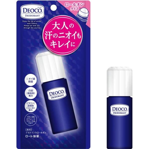 Антиперспирант против возрастного запаха Rohto DEOCO Medicated Deodorant Antiperspirant