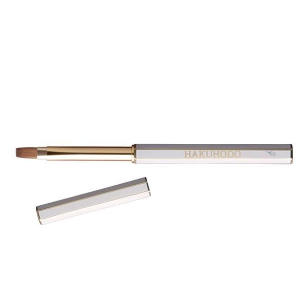 Кисть для губ HAKUHODO Retractable Turn-style Lip Brush L Wh