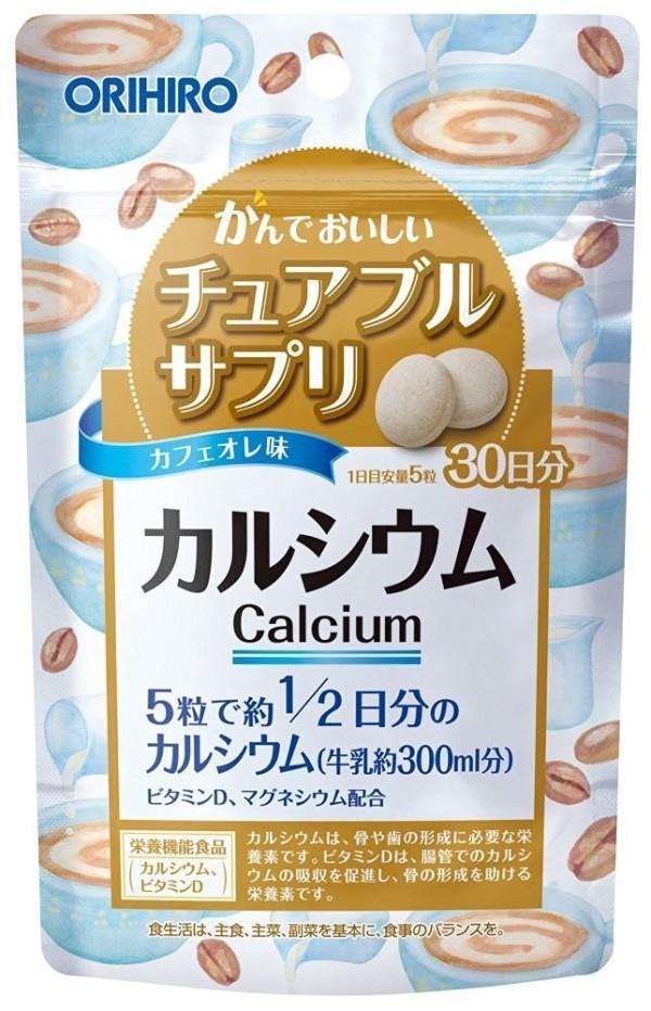 Жевательный кальций ORIHIRO CALCIUM с кофейно - молочным вкусом