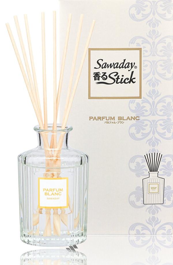 Натуральный ароматизатор для дома Sawaday Black stick Parfum Blanc