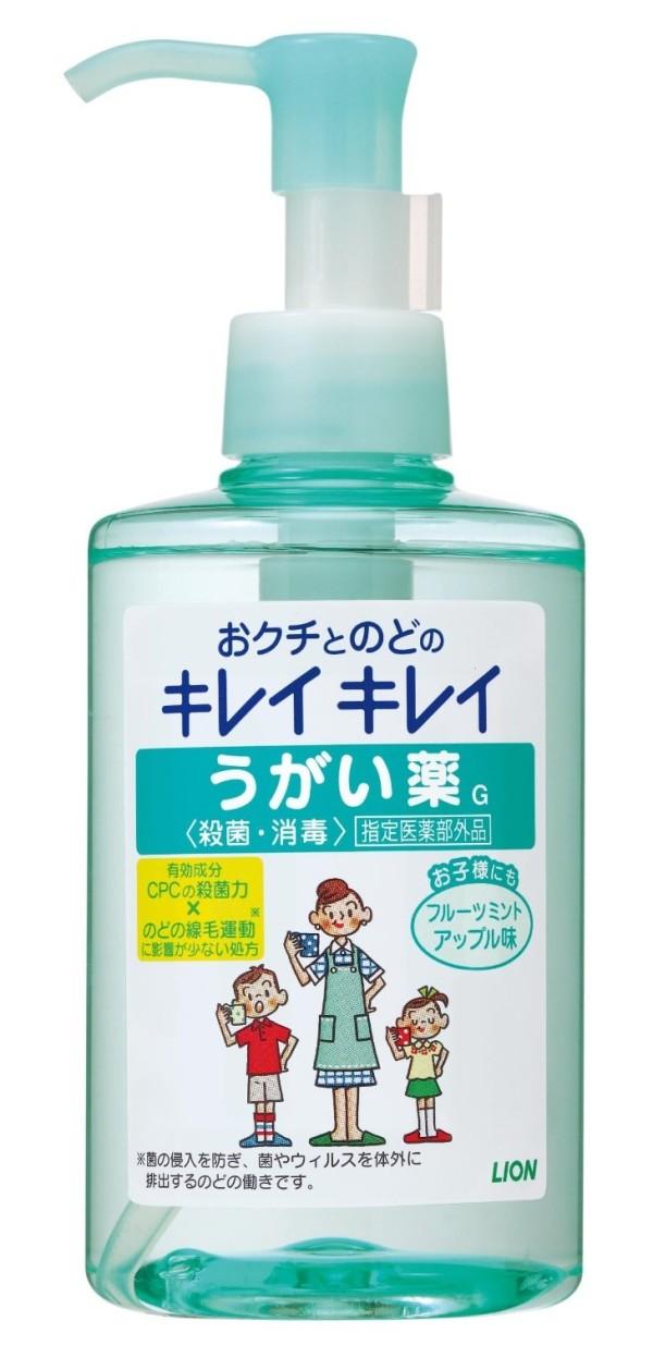 Жидкость для полоскания рта Lion Кирэй-кирэй со вкусом яблока и мяты