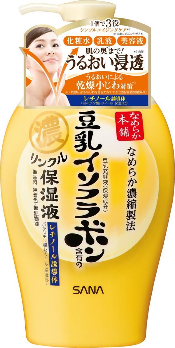 Подтягивающий лосьон для кожи Sana Nameraka Honpo Wrinkle Moisturizing Lotion
