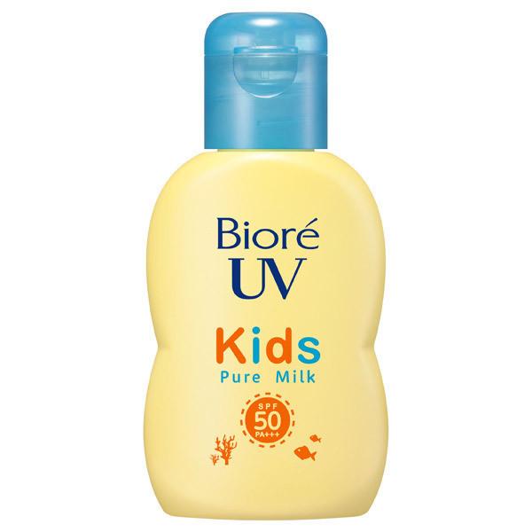 Детское солнцезащитное молочко KAO Biore UV Kids Pure Milk SPF 50+/PA++++
