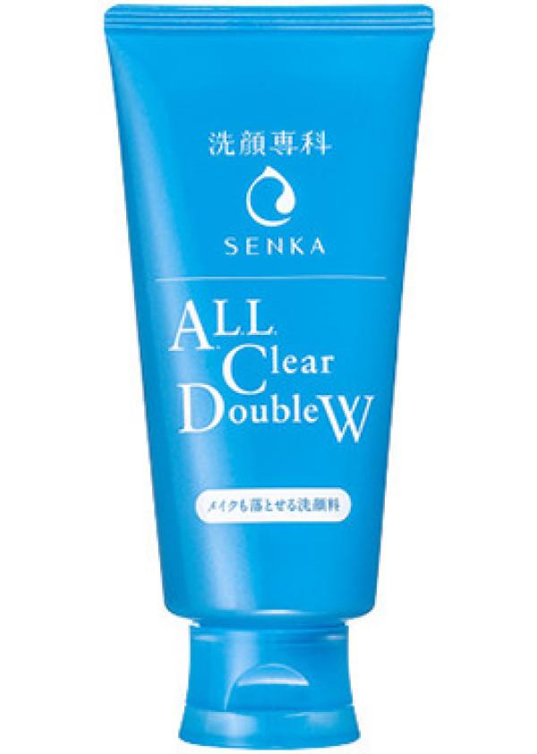 Пенка для снятия макияжа Shiseido Hada-Senka All Clear Double W