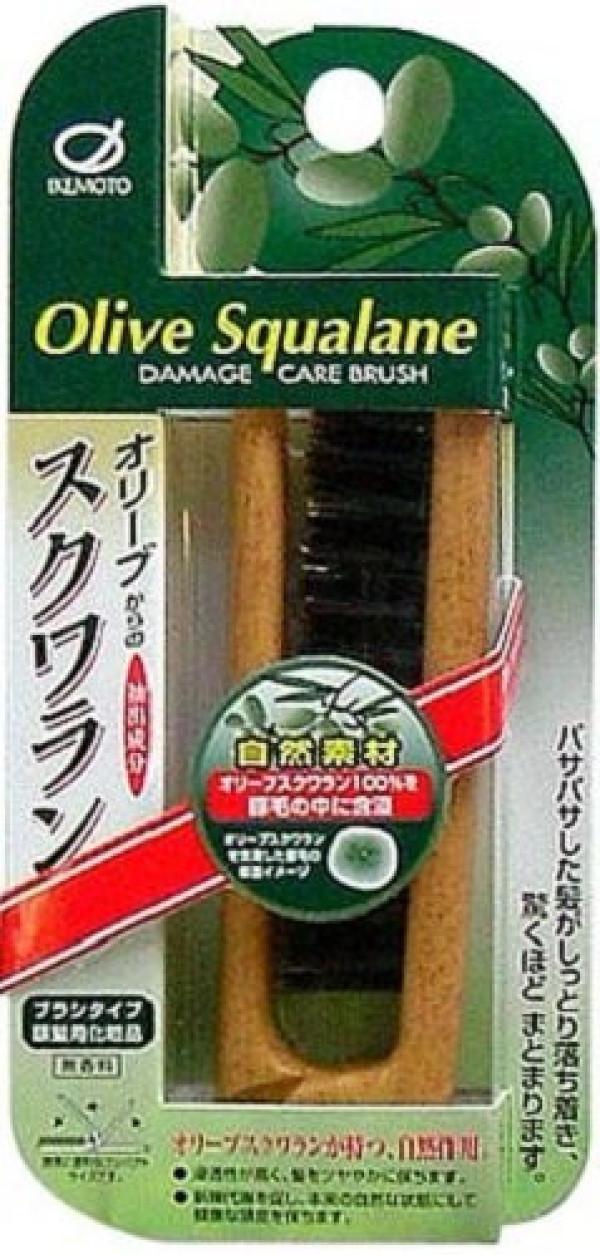 Щётка для волос IKEMOTO DAMAGE CARE BRUSH с оливковым скваланом складная