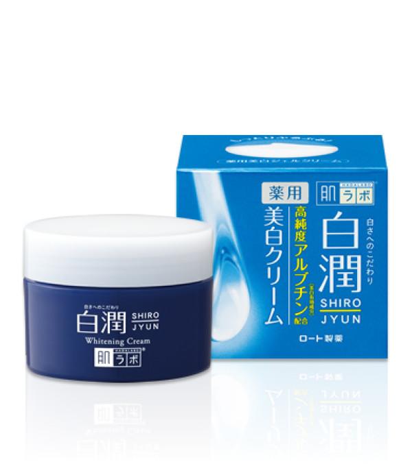 Отбеливающий лечебный крем Hada Labo Shirojyun Medicated Whitening Cream