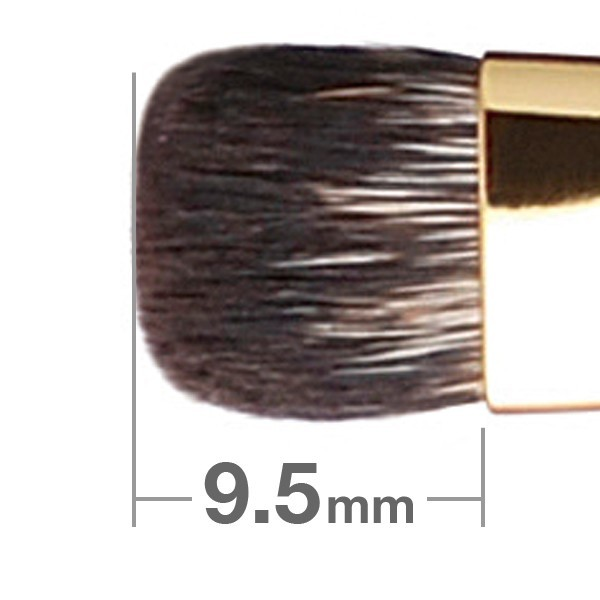 Кисть для теней HAKUHODO Eye Shadow Brush Round & Flat S134Bk