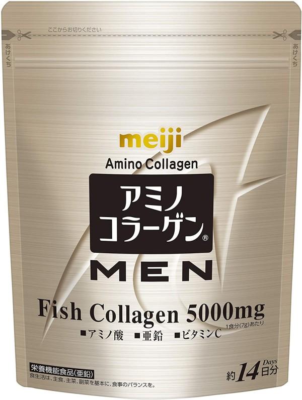 Амино-коллаген для мужчин Meiji Amino Collagen MEN Arginine + Ceramide + Zinc
