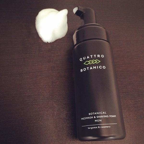 Пена для бритья и пенка для умывания QUATTRO BOTANICO BOTANICAL FACE WASH & SHAVING FOAM MEN