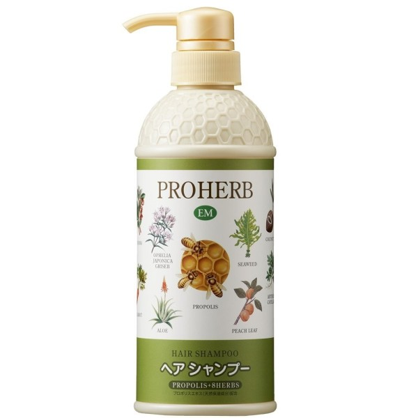 Шампунь Mint Green Proherb EM с прополисом и лекарственными травами