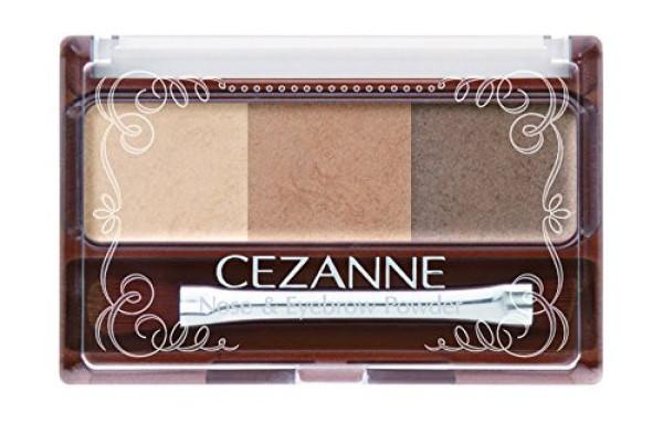 Тени и пудра для бровей Cezanne Nose & Eyebrow Powder