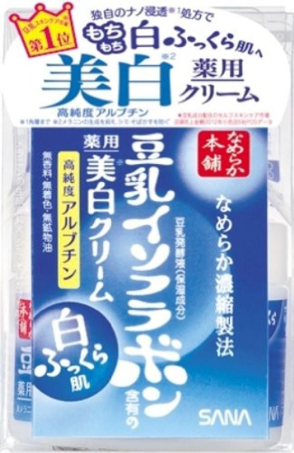 Отбеливающий крем Sana Nameraka Honpo Medicated Whitening Cream