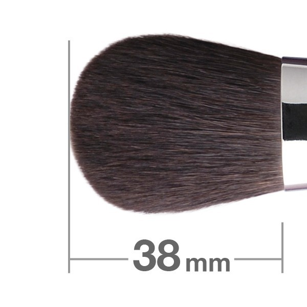 Кисть для пудры HAKUHODO Powder Brush Round & Flat B5519