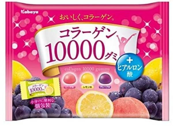 Жевательные конфеты с коллагеном и 100% фруктовым соком Kabaya collagen 10000