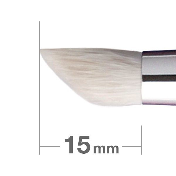 Кисть для теней HAKUHODO Eye Shadow Brush CM Round & Angled J515