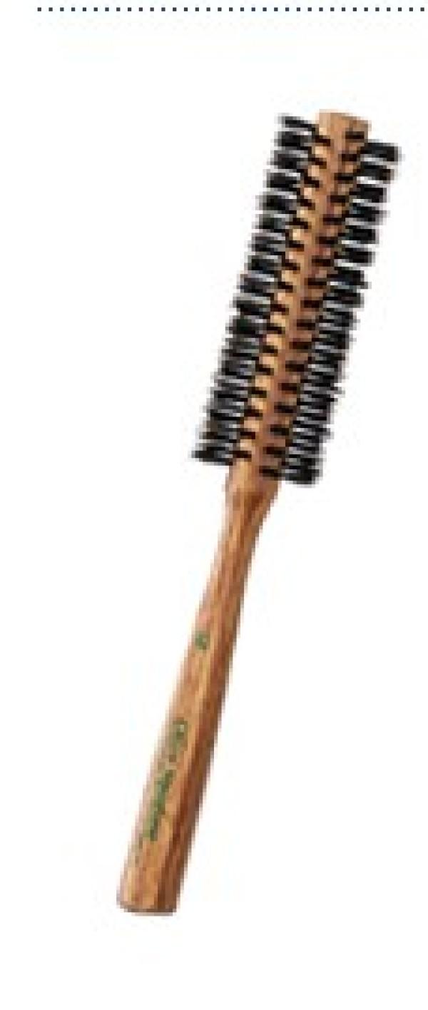 Щётка для волос IKEMOTO DAMAGE CARE BRUSH с оливковым скваланом круглая