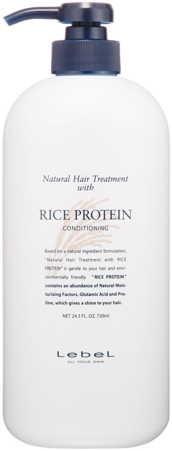 Восстанавливающая маска с протеином риса LEBEL RICE PROTEIN CONDITIONING для ухода за тонкими поврежденными волосами 720 мл