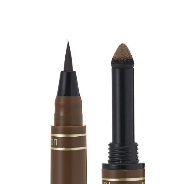 Двусторонний лайнер - карандаш для бровей K - Palette со спонжем - пудрой 1 DAY TATTOO