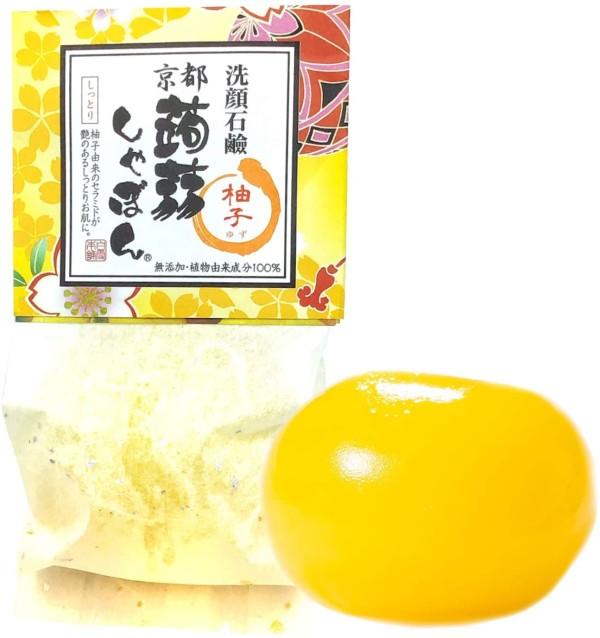 Натуральное мыло из конняку с экстрактом юдзу Kyoto Konnyaku Shabon Yuzu Natural Soap