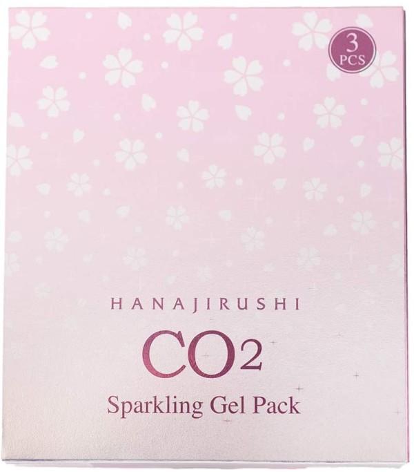 Карбонатная гелевая маска для лица HANAJIRUSHI SPARKLING GEL PACK CO2