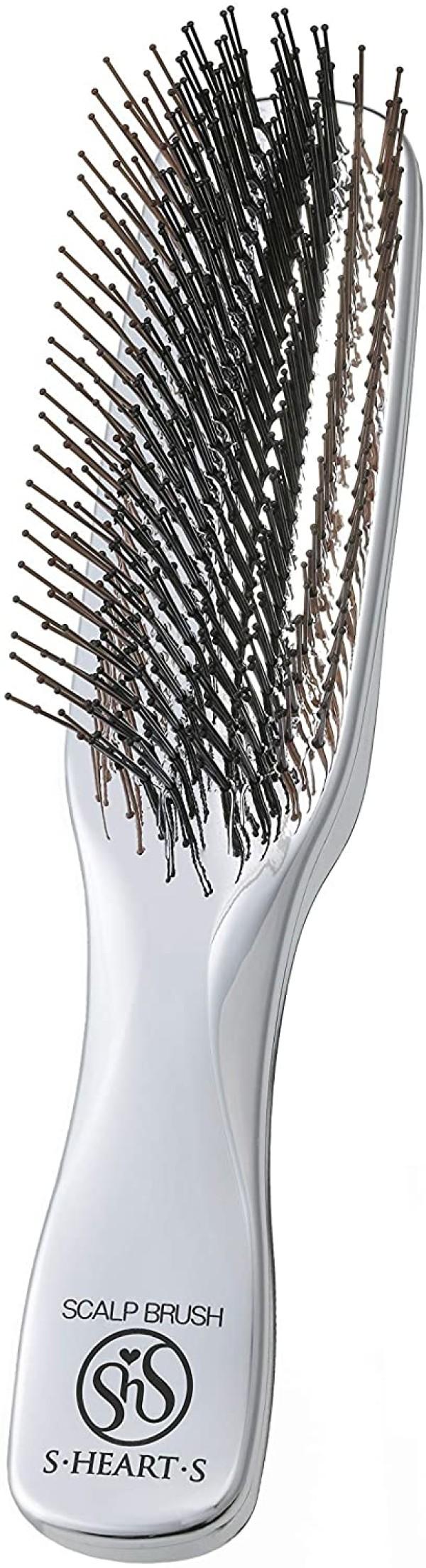 Массажная расческа для мытья и укладки волос S-Heart-S Scalp Brush Plus (Long)