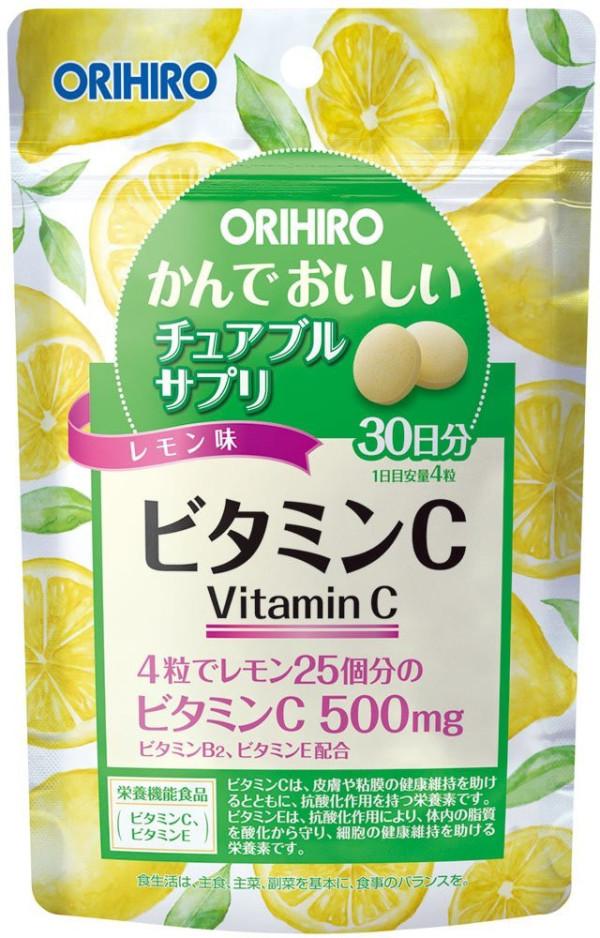 Жевательный витамин C с лимонным вкусом Orihiro