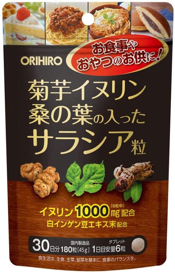 Блокатор калорий ORIHIRO Jerusalem Artichoke + Inulin + Salacia + Mulberry Leaves
