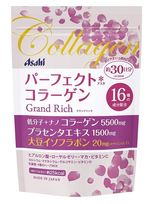 Комплекс для женщин с коллагеном и соевыми изофлавонами Asahi Perfect Asta Collagen Powder Grand Rich