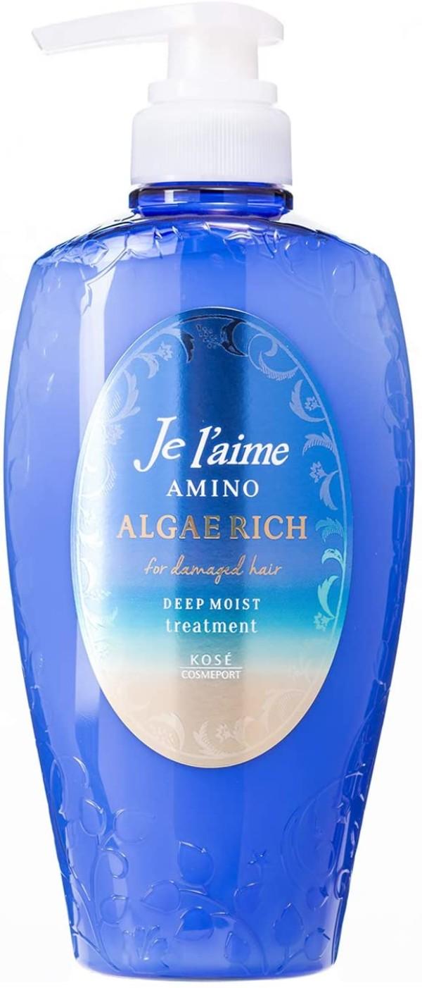Бальзам с 18 видами аминокислотам для увлажнения и восстановления волос  Je l'aime Amino Algae Rich Treatment KOSE