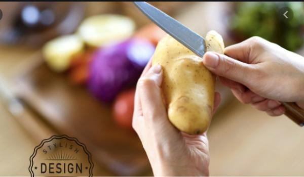 Нож для очистки овощей и фруктов YEBISU YAIBA Hana By Peeling Knife Damascus