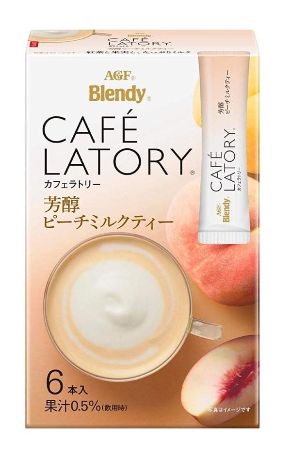 Персиковый чай с молоком AGF Blendy Cafe Latory Mellow Peach Milk Tea