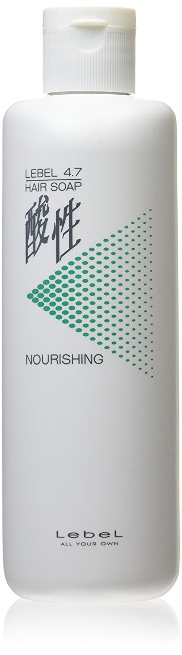 Увлажняющий шампунь Lebel 4.7 Acidic Hair Soap Nourishing для тонких и осветленных волос
