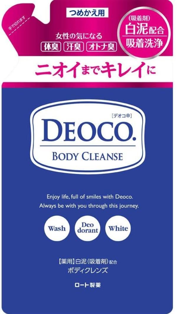 Гель для душа против возрастного запаха и запаха пота Rohto DEOCO Medicated Body Cleanse