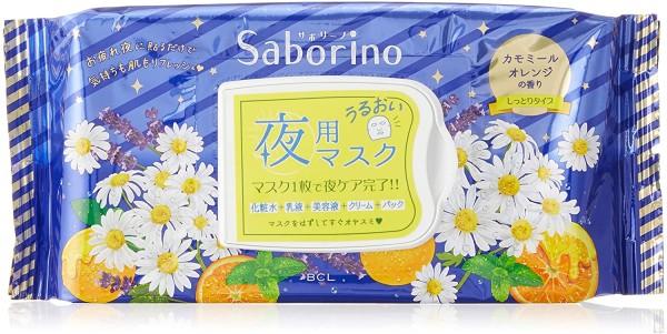 Ночная экспресс-маска для лица с ароматом апельсина и ромашки BCL Saborino Tiredness Night Mask