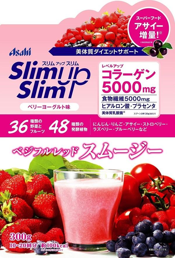 Протеиновый Slim Up Slim Asahi ягодный йогурт с коллагеном и плацентой