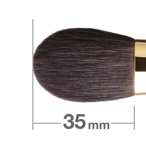 Кисть для румян HAKUHODO Blush Brush Round & Flat S111Bk