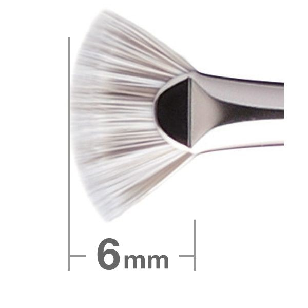 Кисть для теней Hakuhodo Duo Fibre Fan Lash Brush  J4006