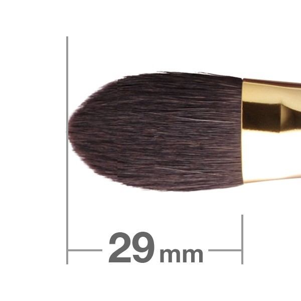 Кисть для хайлайтера HAKUHODO Highlighter Brush Round & Flat S116Bk