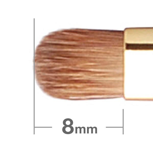 Кисть для теней HAKUHODO Eye Shadow Brush Round & Flat S143Bk