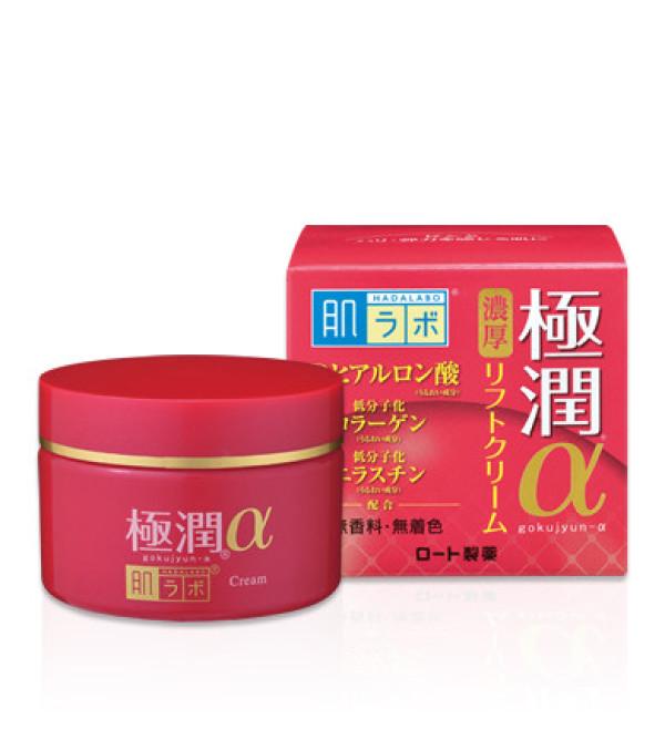 Гиалуроновый антивозрастной лифтинг крем  HADALABO Hyaluronic Lifting Alpha Cream